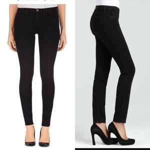 J Brand Midrise Skinny Jean in Shadow Black